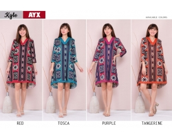 KYLE Dress Batik Wanita Babydoll A-Line for Casual or Party (AYX)