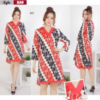 KYLE Dress Batik Wanita Babydoll A-Line for Casual or Party (BAU)