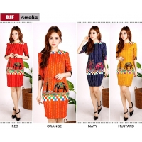 AMALIA Dress Bodycon Batik Modern AllSize (BJF)