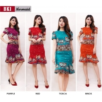 Mermaid Dress Batik Wanita fit up to L kecil (BKI)