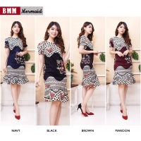 Mermaid Dress Batik Wanita fit up to L kecil (BMM)