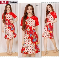 Belina Dress Batik Wanita kombinasi Brokat AllSize fit up to L kecil (BAP)