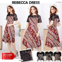 JO & NIC REBECCA Batik Dress Kombinasi Brokat
