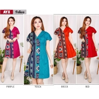 FELICE Casual Dress Batik A-Line AllSize - Homey Dress, Dress Kantor (AYX)