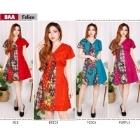 FELICE Casual Dress Batik A-Line AllSize - Homey Dress, Dress Kantor (BAA)