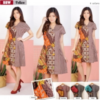 FELICE Casual Dress Batik A-Line AllSize - Homey Dress, Dress Kantor (BBW)