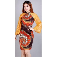 RORY Lace Batik Modern Dress Wanita - All Size fit up to L