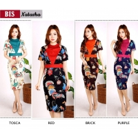 NATASHA Bodycon Dress Batik Modern Katun Stretch (BIS)