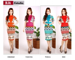 NATASHA Bodycon Dress Batik Modern Katun Stretch (BJA)