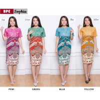 SOPHIA Dress Wanita Batik Modern Kombinasi Lace Brokat One Size (BPC)