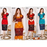 Vivian Dress Batik Modern Wanita Kerah Unik Cutting Pencil (BNP)