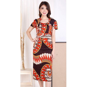 VIVIAN Batik Dress Wanita- All Size fit up to L