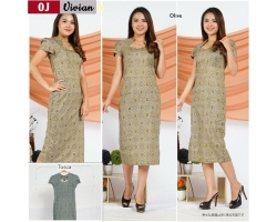 Vivian Dress Batik Modern Wanita Kerah Unik Cutting Pencil (OJ)