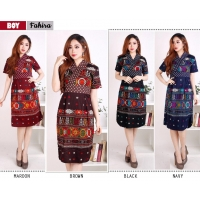 FAHIRA Dress Batik Modern Wanita AllSize - Dress Kantor (BOY)