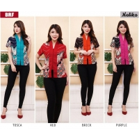 MALIKA Blouse Batik model Abaya Modern - Atasan Wanita fit up to L kecil (BRF)