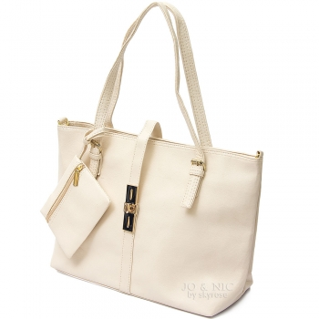 Paula Sling Tote Bags + Pouch - CREAM