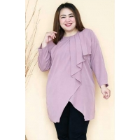 SHEREN Tunik Jumbo Lengan Panjang - Atasan Wanita Big Size fit up to XXL