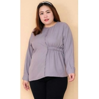 VARA Longsleeve Jumbo Blouse - Atasan Wanita Big Size fit up to XXL