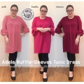ADELE Ruffle Sleeves Tunik Top Big Size - Atasan Wanita Jumbo fit up to XXL [BST02]