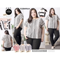 Vanessa Stripe Sweet Top (Big Size)