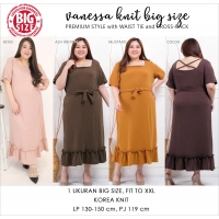 VANESSA Midi Knit Dress Big Size - Dress Jumbo Casual (3)