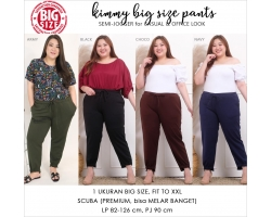 KIMMY Big Size Office Pants - Celana Scuba Premium Jumbo (2)