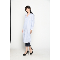 RACHEL Tunic Shirt Dress M/L/XL/XXL - BLUE