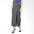 CLAUDIA Pleats Skirt Pants - GREY