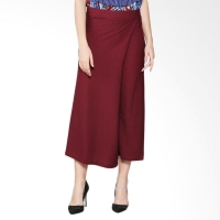 CLAUDIA Pleats Skirt Pants - MAROON