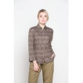 PAULA Tweed Belted Blouse M/L/XL/XXL - BROWN