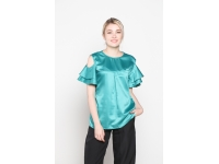FLO Sateen Blouse - GREEN