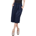 Jessica Pleats Culotte Pants - NAVY