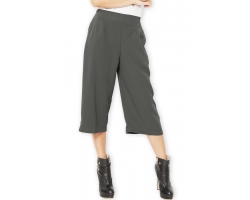 Allison Midi Culotte Pants - DARKGREY