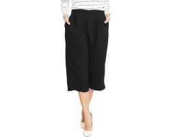 Allison Midi Culotte Pants - BLACK