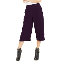 Allison Midi Culotte Pants - DARKPURPLE