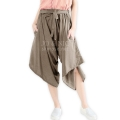 Chelsea Front-Tied Harem Midi Pants - MOCCA