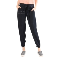Raissa Comfy Jogger Pants - BLACK