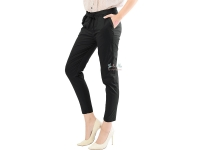 Barbara Stretch Cotton Pants - BLACK