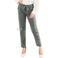 Barbara Stretch Cotton Pants - GREY