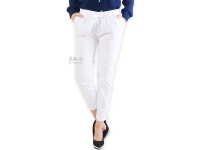 Barbara Stretch Cotton Pants - WHITE