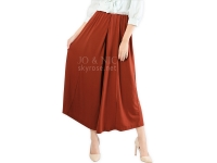 Tara Umbrella Skirt Pants - BRICK