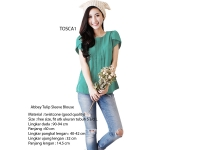 Abbey Tulip Sleeve Blouse - TOSCA1