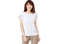 Abbey Tulip Sleeve Blouse - WHITE [FJNBL0217]