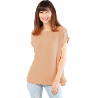 Claire Back-Zip Simply Top - BROWN