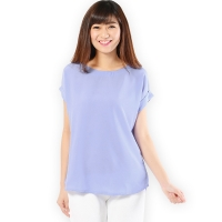 Claire Back-Zip Simply Top - PURPLE