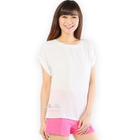 Claire Back-Zip Simply Top - WHITE