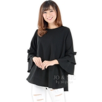 Kimberly Tunik Top (Blouse Jumbo) - BLACK