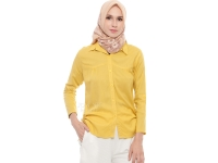 Anita LongSleeves Shirt - YELLOW
