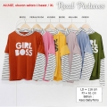 EVELYN Tee Girl Boss - Kaos Wanita Lengan Panjang AllSize fit up to XL