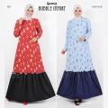 Gamis Bubble import AllSize fit up to XL (Jumbo) - 4 warna